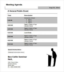 Agenda Template Free  Template Business regarding Meeting Agenda Template Word Free