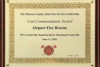Airport Firefighters Recognized For Mutual Aid Response To inside Quality Firefighter Certificate Template