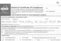 Alford Electric Electrical Certificate Of Compliance Coc within Quality Electrical Installation Test Certificate Template