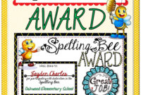 An Award To Present To Participants Of The Spelling Bee intended for Spelling Bee Award Certificate Template