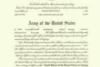 Ancestors Of Lt Col William John Schuck Usa Ret in Officer Promotion Certificate Template