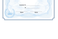 Anger Management Certificate Of Completion Template for Anger Management Certificate Template Free