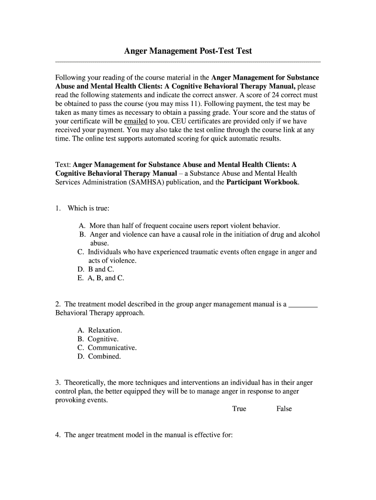Anger Management Certificate Template  Fill Out And Sign throughout Printable Anger Management Certificate Template Free