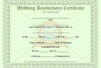 Anniversary Certificate  How To Memorize Things with regard to Amazing Anniversary Gift Certificate Template Free