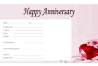 Anniversary Gift Voucher Template Free Love Theme 2 In within Amazing Anniversary Gift Certificate Template Free
