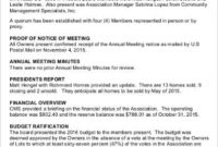 Annual Meeting Minutes Template 6 Free Word Pdf Documents inside Free Cost Of Living Budget Template