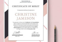 Appreciation Certificate Template For Employee Merit  エステ inside Printable Certificate Of Merit Templates Editable