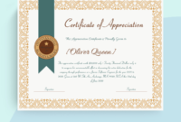 Appreciation Certificate Word Doc 1661  Doc Formats In intended for Awesome Formal Certificate Of Appreciation Template