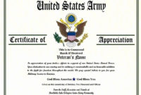 Army Certificate Of Achievement Template Elegant Army with regard to Free Army Certificate Of Appreciation Template
