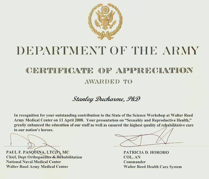 Army Certificate Of Appreciation Template 4 In 2020 within Army Certificate Of Appreciation Template