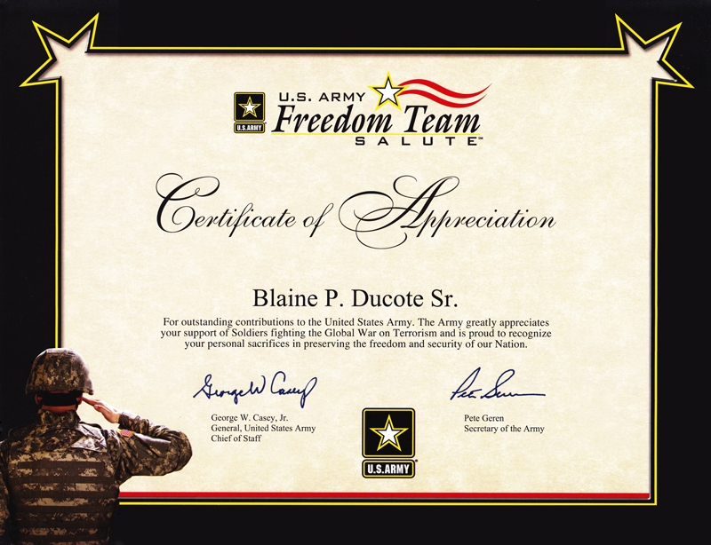 Army Certificate Of Appreciation Template 7 with regard to Best Certificate Of Job Promotion Template 7 Ideas