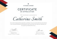 Army Certificate Of Appreciation Template For Retirement in Retirement Certificate Templates