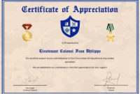 Army Certificate Of Appreciation Template Regarding Army with regard to Free Army Certificate Of Completion Template