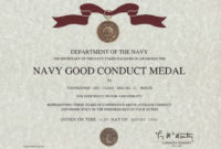 Army Good Conduct Medal Certificate Template Army Good inside Free Good Conduct Certificate Template