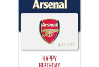 Arsenal Happy Birthday £100 Gift Card  Official Online Store with regard to Free Happy Birthday Gift Certificate