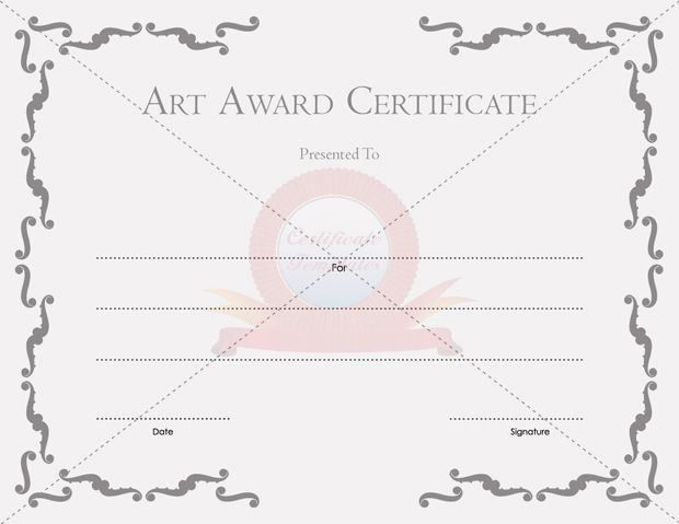 Art Award Certificate Template Free Awesome Certificate within Free Art Award Certificate Templates Editable