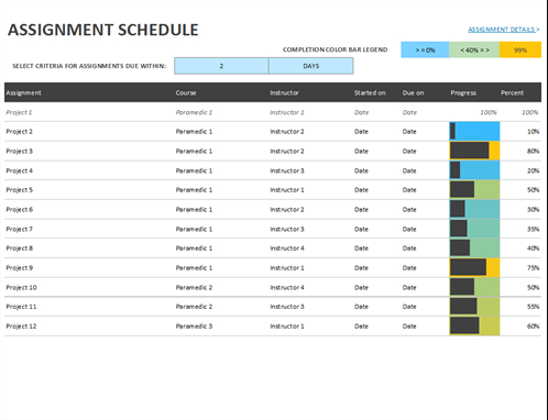 Assignment Schedule pertaining to Free Collaboration Meeting Agenda Template