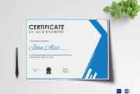 Athletic Achievement Certificate Design Template In Psd Word inside Free Certificate Of Achievement Template Word