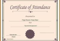 Attendance Certificate Template Word 2  Templates for Attendance Certificate Template Word