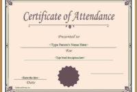 Attendance Certificate Template Word 2  Templates in Free Conference Certificate Of Attendance Template