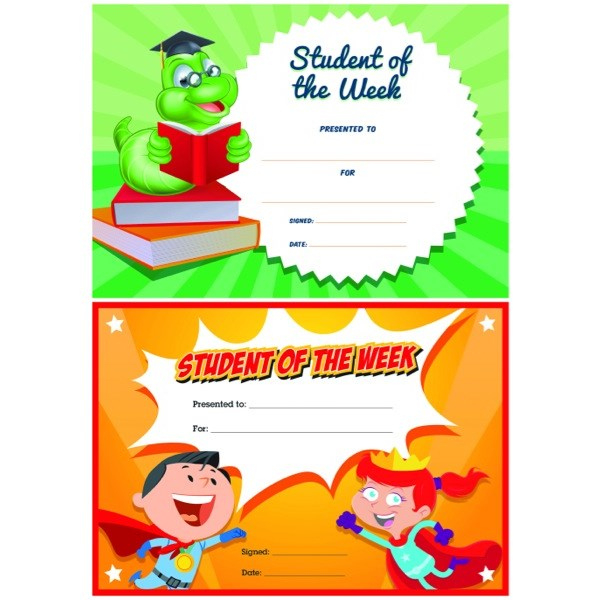 Avery Student Of The Week Certificates Pack Of 36 intended for Student Of The Week Certificate