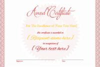 Award Certificate Star Background  Word Layouts with Awesome Star Performer Certificate Templates