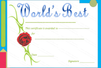Award Certificate Template Red Rose Themed  Gct with regard to Free Best Costume Certificate Printable Free 9 Awards
