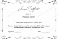 Award Certificate Templates  Free Printable Documents within Downloadable Certificate Templates For Microsoft Word