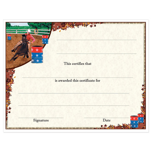 Award Certificates  Barrel Racing Design  Hodges Badge with Free Track And Field Certificate Templates Free