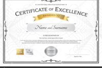 Award Of Excellence Certificate Template  Professional throughout Quality Award Of Excellence Certificate Template