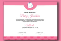 Baby Certificate Customizable Psd Design Template  Room with regard to Awesome Free Choir Certificate Templates 2020 Designs