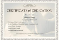 Baby Dedication Certificate Template Boy Or Girl Instant with Quality Free Fillable Baby Dedication Certificate Download