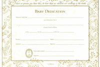 Baby Dedication Certificates  Template Business with Awesome Baby Dedication Certificate Template