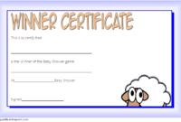 Baby Shower Winner Certificates Free 7 Best 2019 Designs in Free Fishing Certificates Top 7 Template Designs 2019