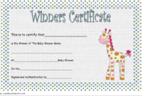 Baby Shower Winner Certificates Free 7 Best 2019 Designs throughout Fishing Certificates Top 7 Template Designs 2019