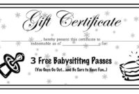 Babysitting Coupons Printable  Google Search with regard to Quality Baby Shower Winner Certificate Template 7 Ideas