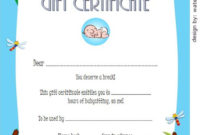 Babysitting Gift Certificate Template 2 Free  Gift with regard to Babysitting Gift Certificate Template