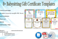 Babysitting Gift Certificate Template Free 7 New Choices in Quality Babysitting Certificate Template 8 Ideas