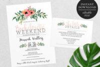 Bachelorette Party Invitation  Etsy throughout Bachelorette Party Agenda Template