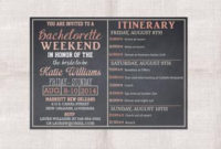 Bachelorette Party Weekend Invitation And Itinerary Custom pertaining to Best Bachelorette Party Agenda Template