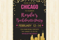 Bachelorette Party Weekend Invitation And Itinerary Custom regarding Best Bachelorette Party Agenda Template