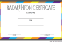 Badminton Certificate Template Free 12 Championship Awards pertaining to Amazing Winner Certificate Template Free 12 Designs