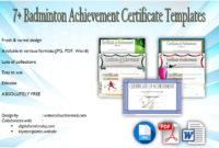 Badminton Certificate Templates 8 Spectacular Designs with regard to Free Badminton Certificate Template