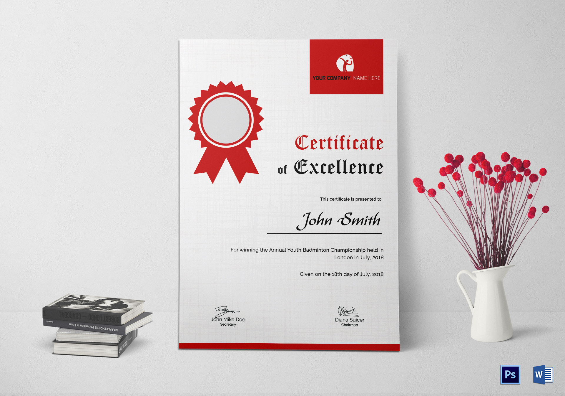 Badminton Excellence Certificate Template Throughout inside Badminton Certificate Templates