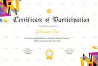 Badminton Participation Certificate Design Template In for Free Table Tennis Certificate Templates Free 10 Designs