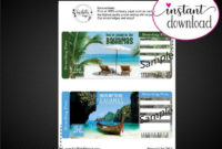 Bahamas Surprise Trip Gift Ticket Boarding Pass pertaining to Printable Travel Gift Certificate Editable