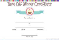 Bake Off Certificate Template  7 Best Ideas in Printable Blessing Certificate Template Free 7 New Concepts