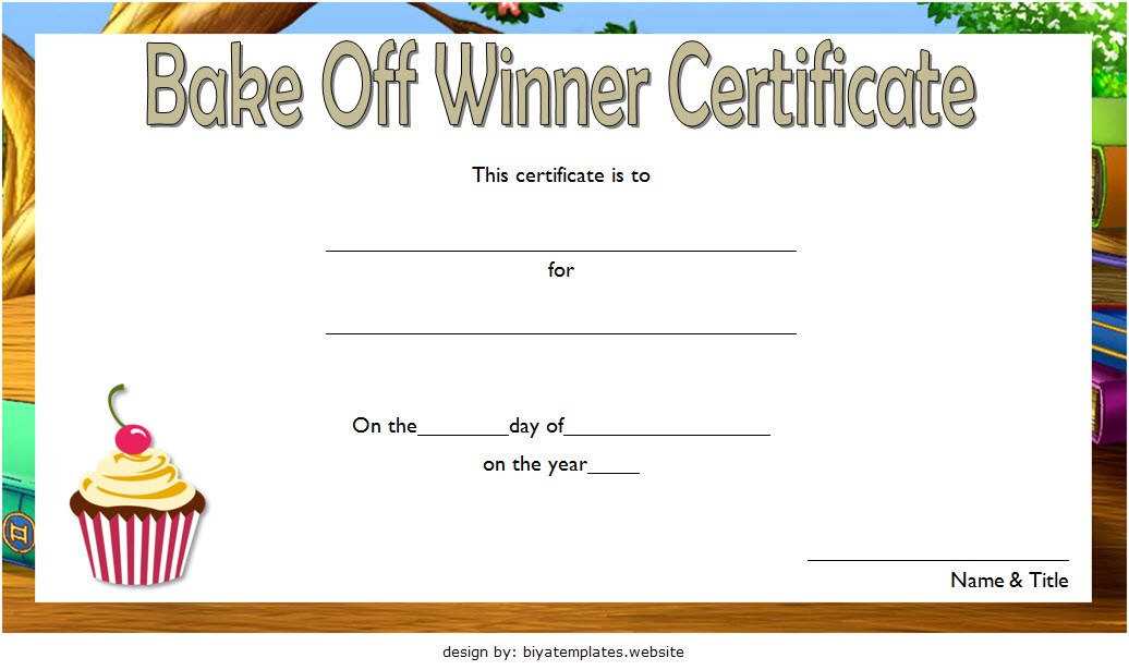 Bake Off Certificate Template  7 Best Ideas intended for Awesome Baptism Certificate Template Word 9 Fresh Ideas