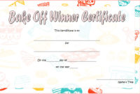Bake Off Certificate Template  7 Best Ideas with Awesome Baptism Certificate Template Word 9 Fresh Ideas