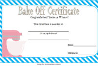 Bake Off Certificate Template  7 Best Ideas with regard to Awesome Baptism Certificate Template Word 9 Fresh Ideas